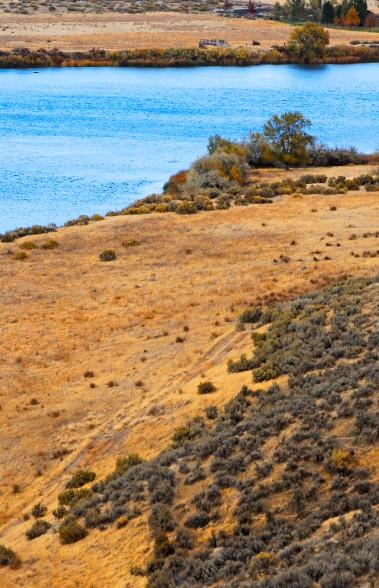 Three Island Crossing part of the Oregon Trail in western Idaho