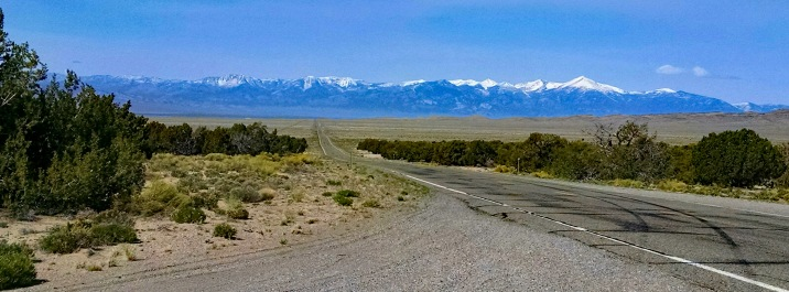 Looking east on The Loneliest Road