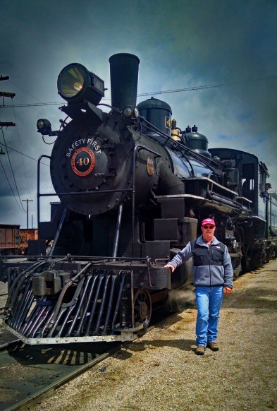 Me with Engine 40