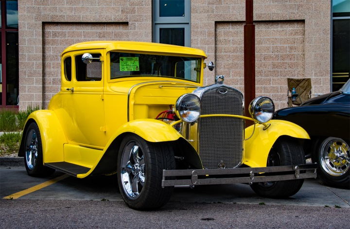 Yellow Ford Coupe